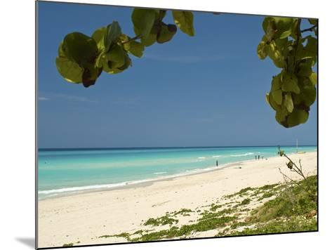White Sand Beach of Playa Del Este, Cuba, West Indies, Caribbean, Central America--Mounted Photographic Print