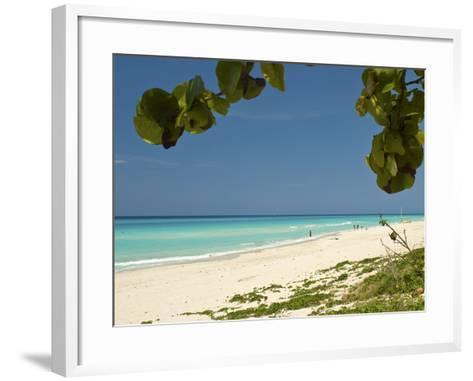White Sand Beach of Playa Del Este, Cuba, West Indies, Caribbean, Central America--Framed Art Print