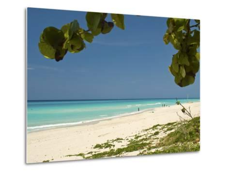White Sand Beach of Playa Del Este, Cuba, West Indies, Caribbean, Central America--Metal Print