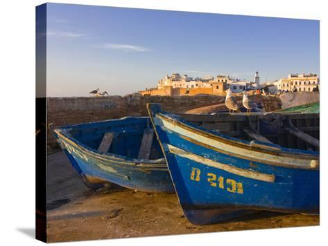 Fishing Boats in the Coastal City of Essaouira, Morocco, North Africa, Africa--Stretched Canvas Print