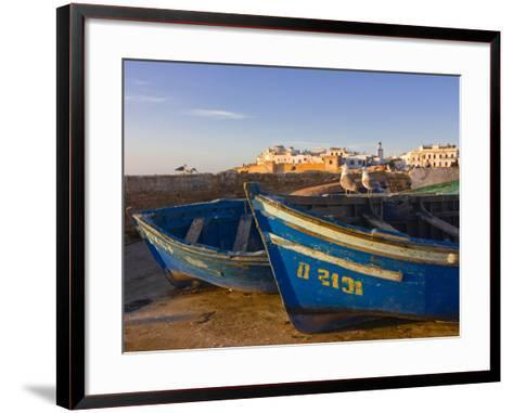 Fishing Boats in the Coastal City of Essaouira, Morocco, North Africa, Africa--Framed Art Print