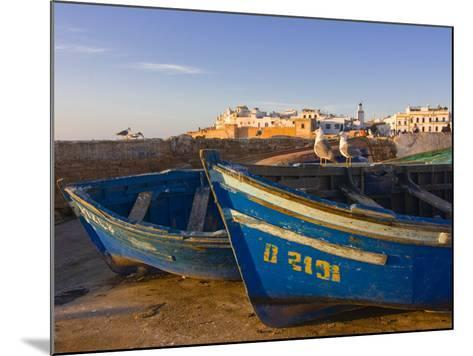 Fishing Boats in the Coastal City of Essaouira, Morocco, North Africa, Africa--Mounted Photographic Print
