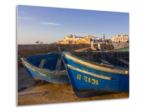 Fishing Boats in the Coastal City of Essaouira, Morocco, North Africa, Africa--Metal Print