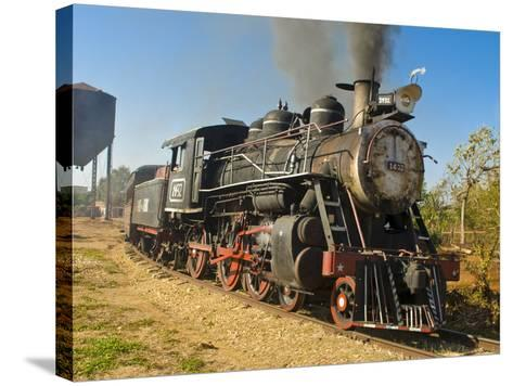 Old Steam Locomotive, Trinidad, Cuba, West Indies, Caribbean, Central America--Stretched Canvas Print