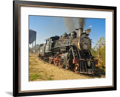 Old Steam Locomotive, Trinidad, Cuba, West Indies, Caribbean, Central America--Framed Art Print