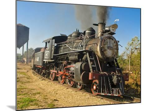 Old Steam Locomotive, Trinidad, Cuba, West Indies, Caribbean, Central America--Mounted Photographic Print