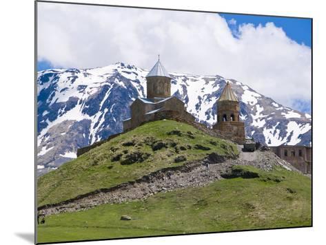 Famous Tsminda Sameba Church, Kazbegi, Georgia, Caucasus, Central Asia, Asia--Mounted Photographic Print