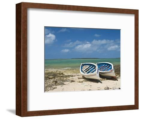Fishing Boats on the Island of Rodrigues, Mauritius, Indian Ocean, Africa--Framed Art Print