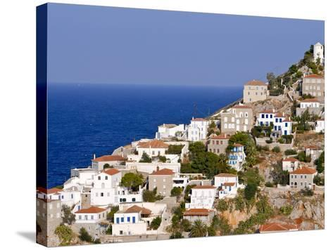 The Town of Hydra on the Island of Hydra, Greek Islands, Greece, Europe--Stretched Canvas Print