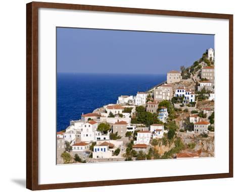 The Town of Hydra on the Island of Hydra, Greek Islands, Greece, Europe--Framed Art Print