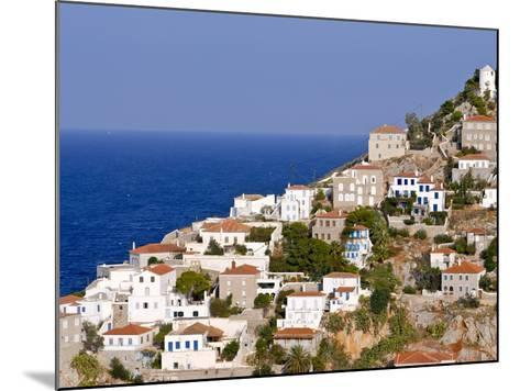 The Town of Hydra on the Island of Hydra, Greek Islands, Greece, Europe--Mounted Photographic Print