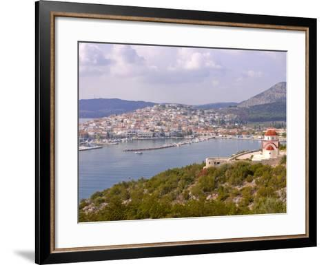 View Over the Town of Ermioni, Peloponnese, Greece, Europe--Framed Art Print