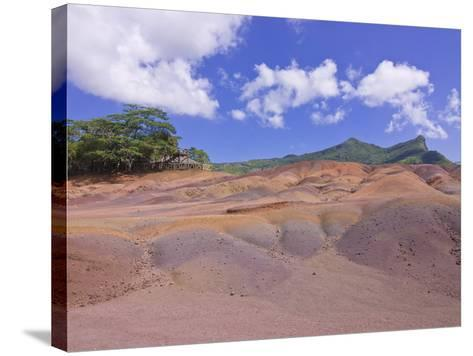 Chamarel Coloured Earths, Mauritius, Indian Ocean, Africa--Stretched Canvas Print
