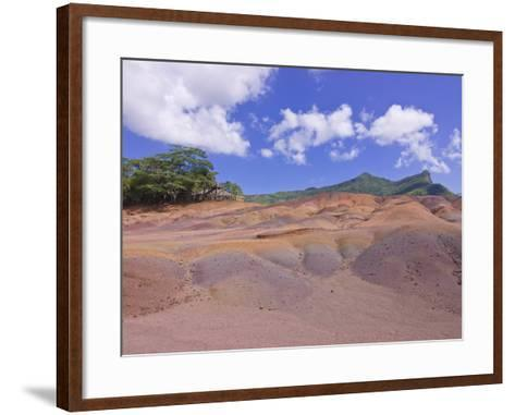 Chamarel Coloured Earths, Mauritius, Indian Ocean, Africa--Framed Art Print