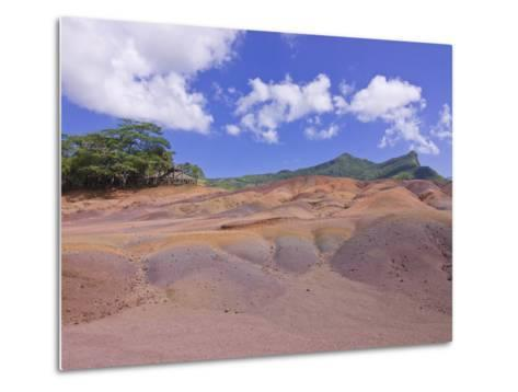 Chamarel Coloured Earths, Mauritius, Indian Ocean, Africa--Metal Print