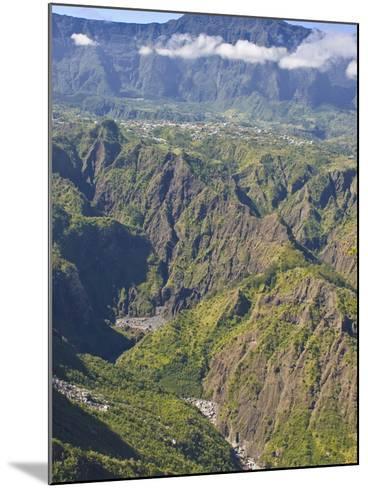 The Crater of Cilaos, La Reunion, Indian Ocean, Africa--Mounted Photographic Print