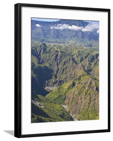 The Crater of Cilaos, La Reunion, Indian Ocean, Africa--Framed Art Print