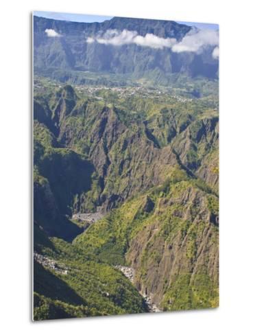 The Crater of Cilaos, La Reunion, Indian Ocean, Africa--Metal Print
