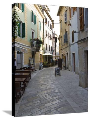 Little Alley in Porec, Istria, Croatia, Europe--Stretched Canvas Print