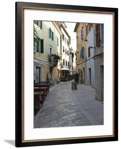Little Alley in Porec, Istria, Croatia, Europe--Framed Art Print