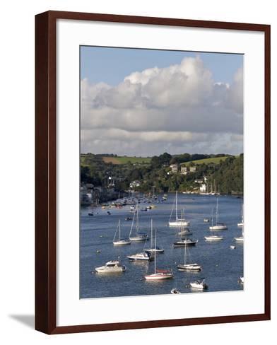 Fowey Harbour and Estuary, Cornwall, England, Uk--Framed Art Print
