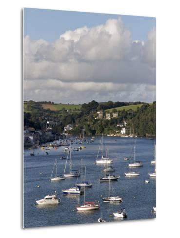 Fowey Harbour and Estuary, Cornwall, England, Uk--Metal Print