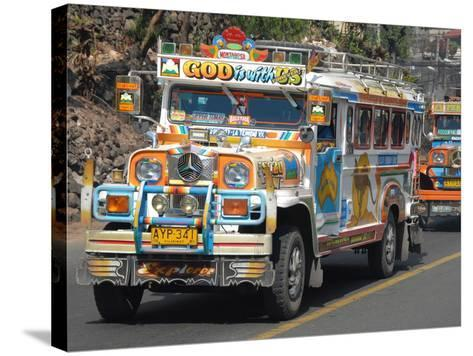 Typical Painted Jeepney (Local Bus), Baguio, Cordillera, Luzon, Philippines, Southeast Asia, Asia--Stretched Canvas Print
