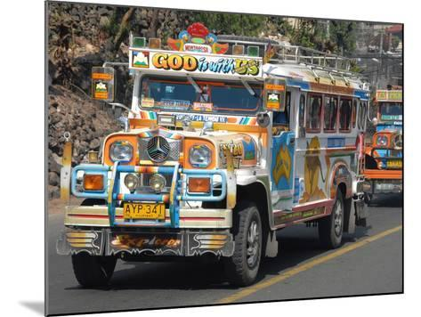 Typical Painted Jeepney (Local Bus), Baguio, Cordillera, Luzon, Philippines, Southeast Asia, Asia--Mounted Photographic Print