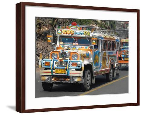 Typical Painted Jeepney (Local Bus), Baguio, Cordillera, Luzon, Philippines, Southeast Asia, Asia--Framed Art Print