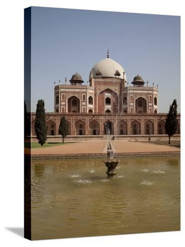 Fountain, Humayun's Tomb, Delhi, India, Asia--Stretched Canvas Print