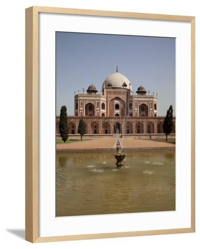 Fountain, Humayun's Tomb, Delhi, India, Asia--Framed Art Print