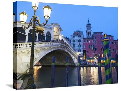Rialto Bridge on the Grand Canal, Venice, UNESCO World Heritage Site, Veneto, Italy, Europe--Stretched Canvas Print