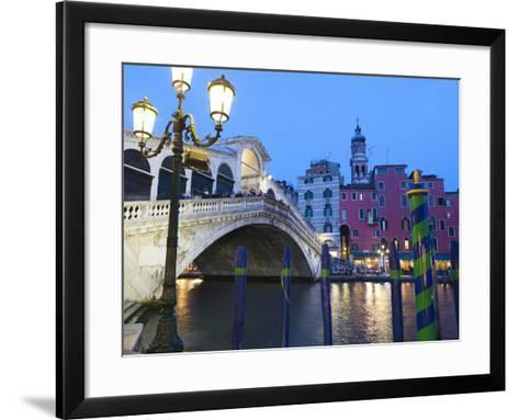 Rialto Bridge on the Grand Canal, Venice, UNESCO World Heritage Site, Veneto, Italy, Europe--Framed Art Print