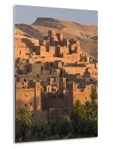 Kasbah Ait Benhaddou, Backdrop to Many Hollywood Epic Films, Near Ouarzazate, Morocco--Metal Print