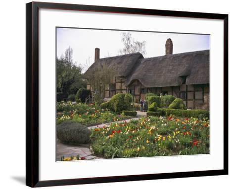 Anne Hathaway's Cottage, Birthplace and Childhood Home of Shakespeare's Future Wife, England--Framed Art Print