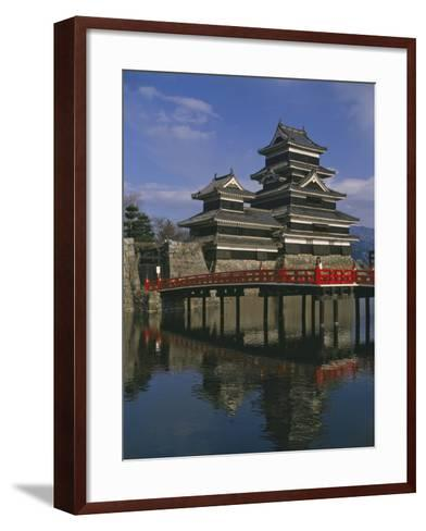 Matsumoto Castle and Moat, Nagano Ken, Japan, Asia--Framed Art Print