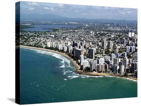 Aerial View of San Juan, Puerto Rico, West Indies, Caribbean, Central America--Stretched Canvas Print