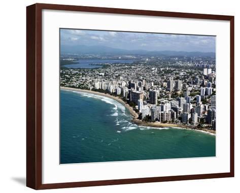 Aerial View of San Juan, Puerto Rico, West Indies, Caribbean, Central America--Framed Art Print