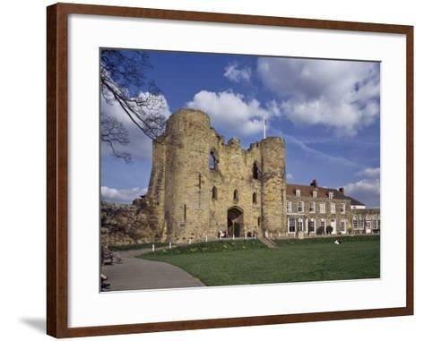 The Keep and Inner Courtyard of Tonbridge Castle, Tonbridge, Kent, England, United Kingdom, Europe--Framed Art Print