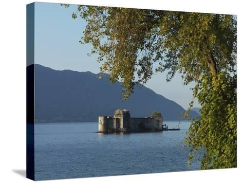 The Borromeo's Castles, Cannobio, Lake Maggiore, Italian Lakes, Piedmont, Italy, Europe--Stretched Canvas Print