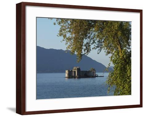 The Borromeo's Castles, Cannobio, Lake Maggiore, Italian Lakes, Piedmont, Italy, Europe--Framed Art Print