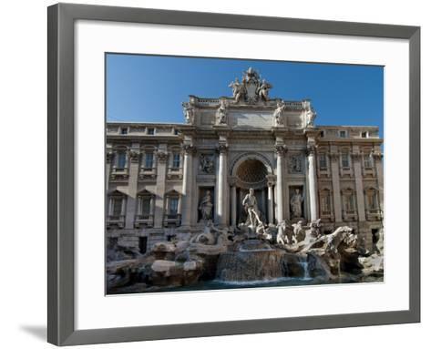 Trevi Fountain, Rome, Lazio, Italy, Europe--Framed Art Print