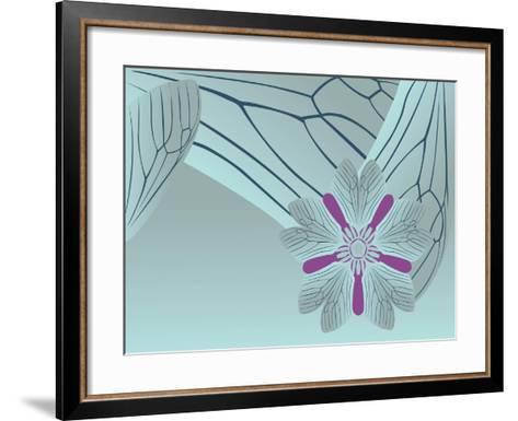 Cool Blue Tora Night-Belen Mena-Framed Art Print
