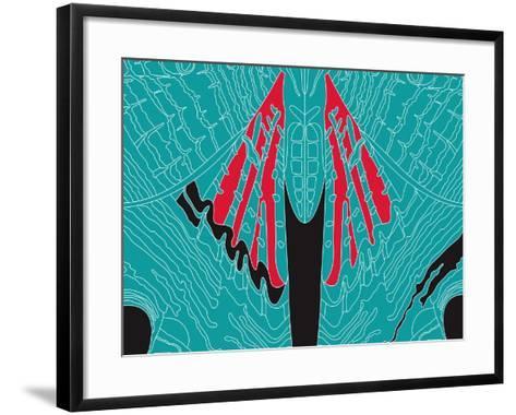 Fly Blueprint-Belen Mena-Framed Art Print