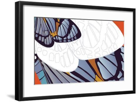 Shadowed Wing of Iris-Belen Mena-Framed Art Print
