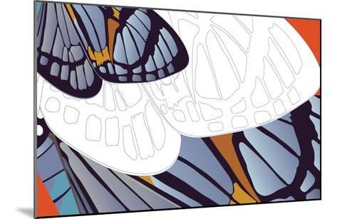 Shadowed Wing of Iris-Belen Mena-Mounted Giclee Print