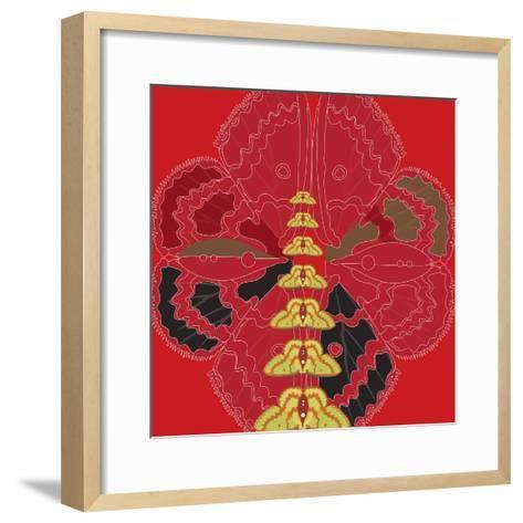 Red Shade Zuca Fantasy-Belen Mena-Framed Art Print