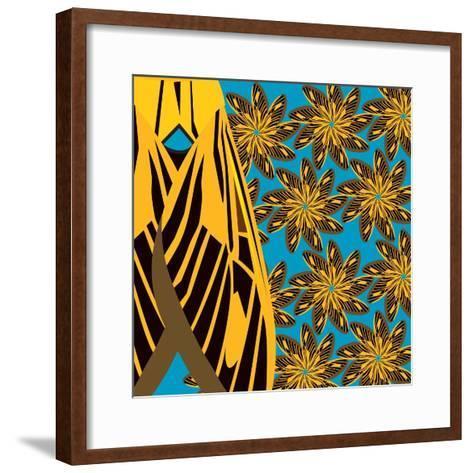 Yellow Pinwheels Made of Moths-Belen Mena-Framed Art Print