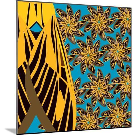 Yellow Pinwheels Made of Moths-Belen Mena-Mounted Giclee Print