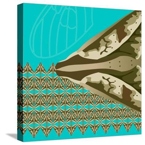 Turquoise Kai-Belen Mena-Stretched Canvas Print